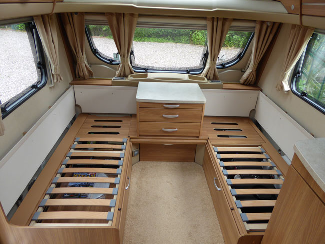 Remove upholstery from your caravan to help security