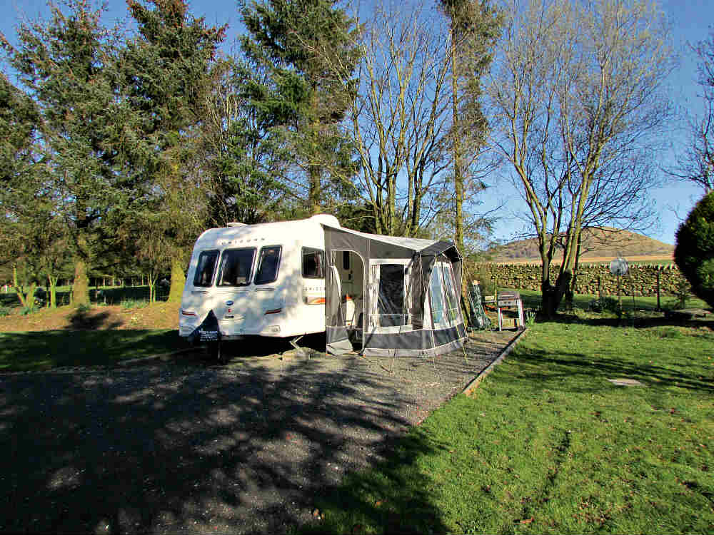 Steve Goodier's caravan on its seasonal pitch