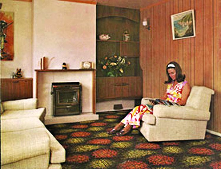 1970s Willerby holiday home interrior