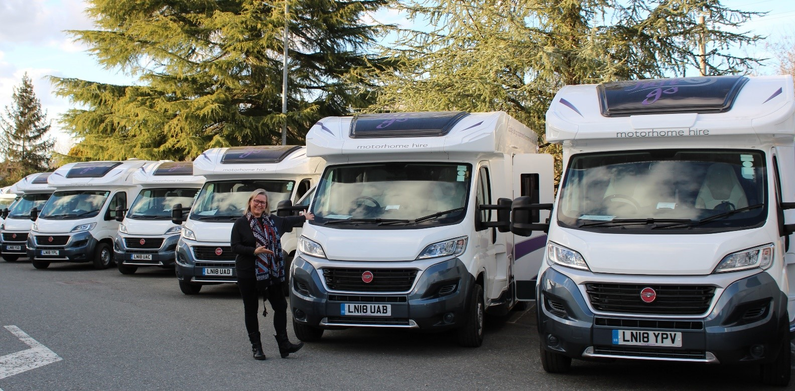 74ff852b63499c (Image Above) - Mrs Miller collecting a brand-new motorhome at the  Rollerteam Factory in March 2018