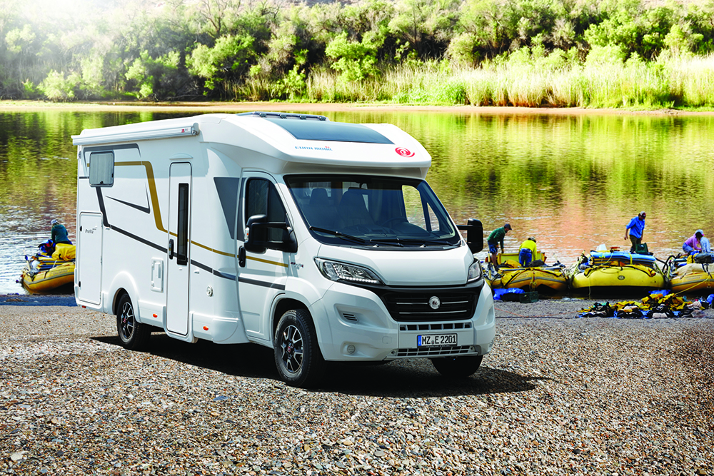 A low profile motorhome