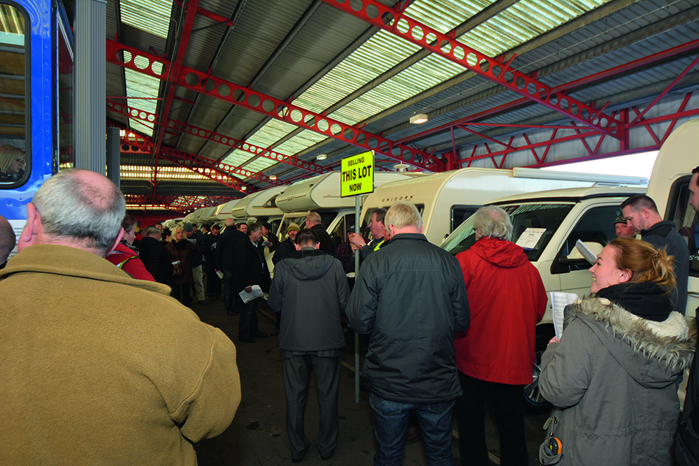 Buying at a motorhome auction