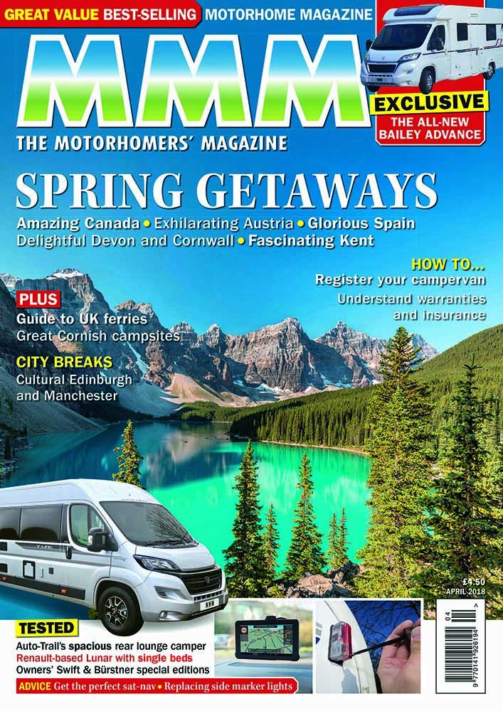 Subscription to MMM Magazine, the UK's best-selling motorhome magazine.
