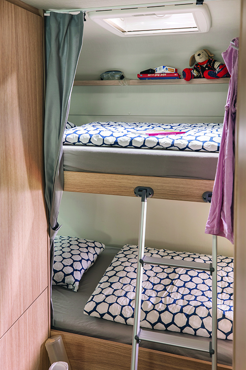 Bunk bed layout interior